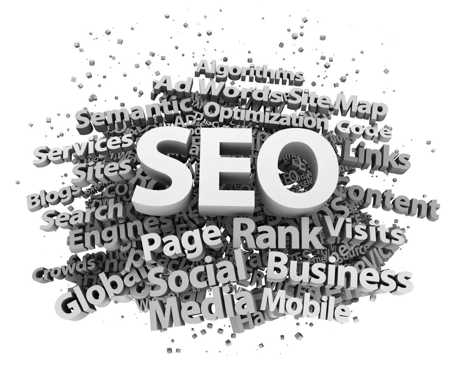 3d word cloud seo optimization